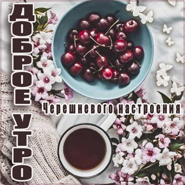 Доброе утро, позитивного утра, с добрым утром открытки, утро розы чай, черешни утро, чудесного тебе утра, прекрасного утра