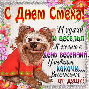 1 апреля смеется собака на картинке
