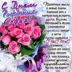 София с днем рождения красивые розы, Софие открытки день рождения, Софье к дню рождения, Софьюшку поздравить день рождения, Сонечка именины, Софию поздравить ДР