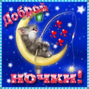открытка ночь